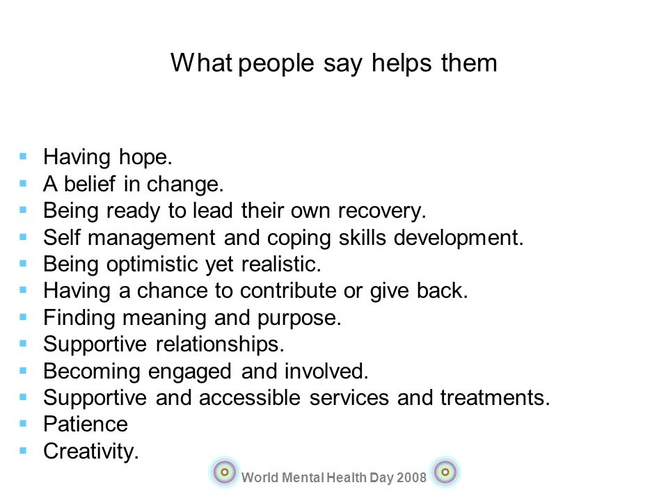 What people say helps them