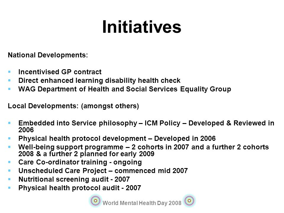 Initiatives National Developments: Incentivised GP contract