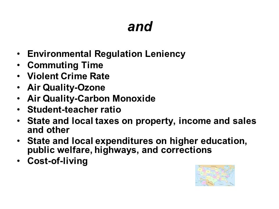 and Environmental Regulation Leniency Commuting Time
