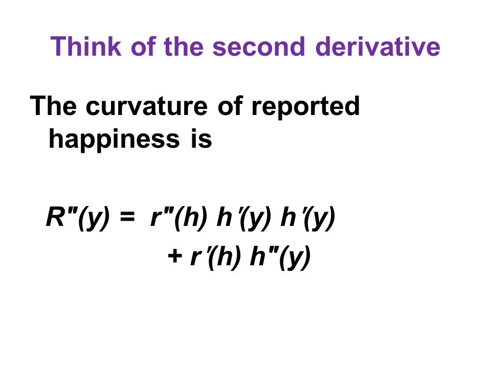 Think of the second derivative