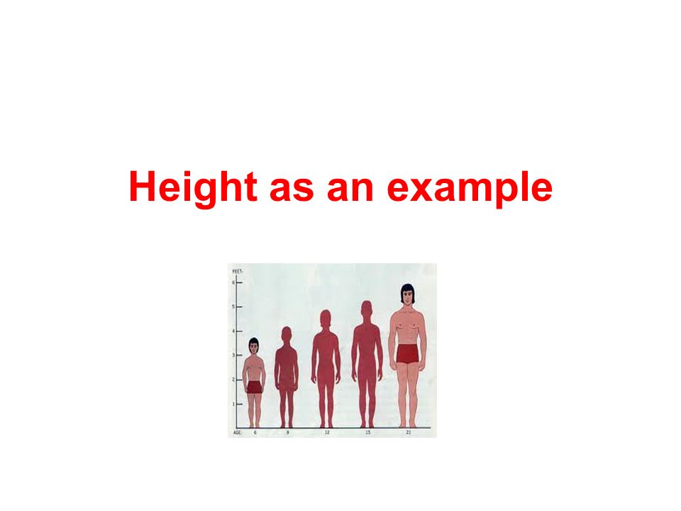 Height as an example