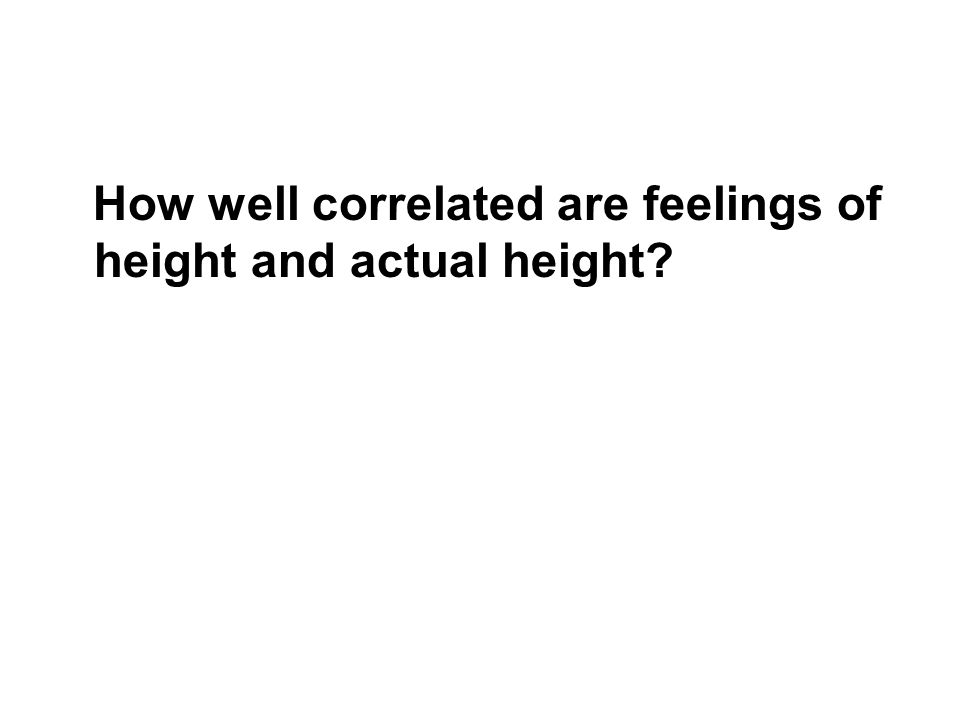 How well correlated are feelings of height and actual height