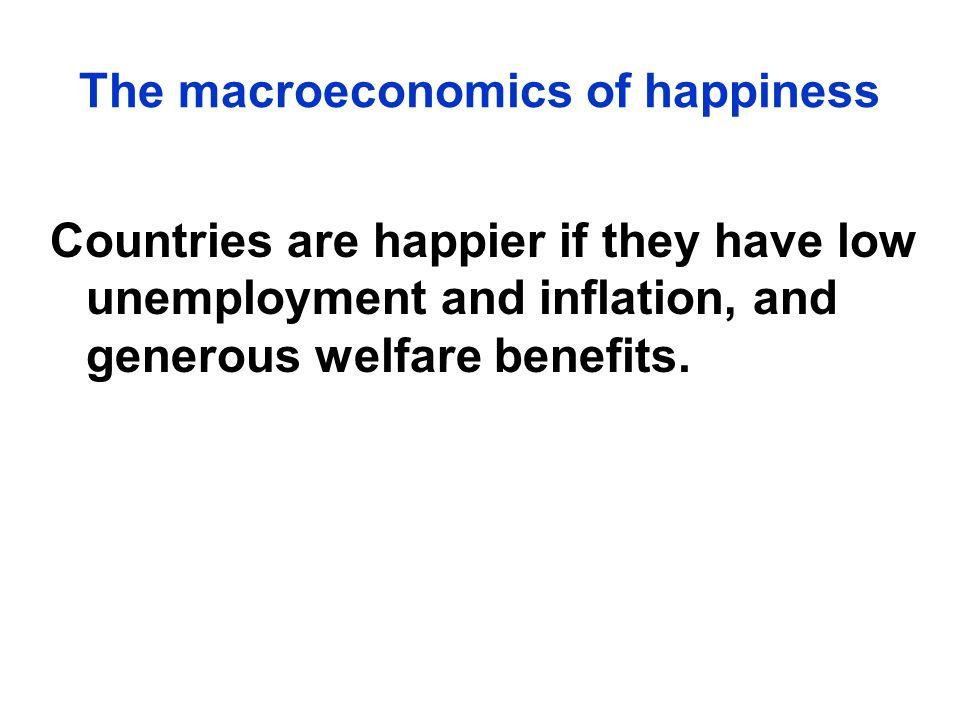 The macroeconomics of happiness
