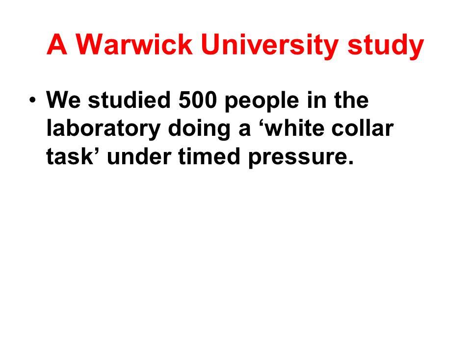 A Warwick University study