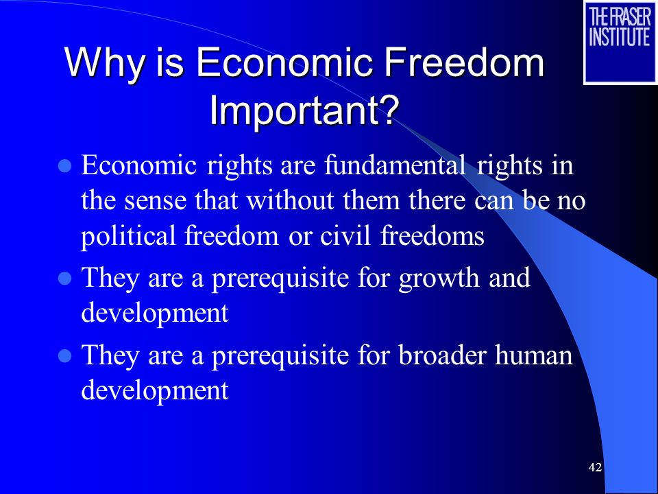 Why is Economic Freedom Important