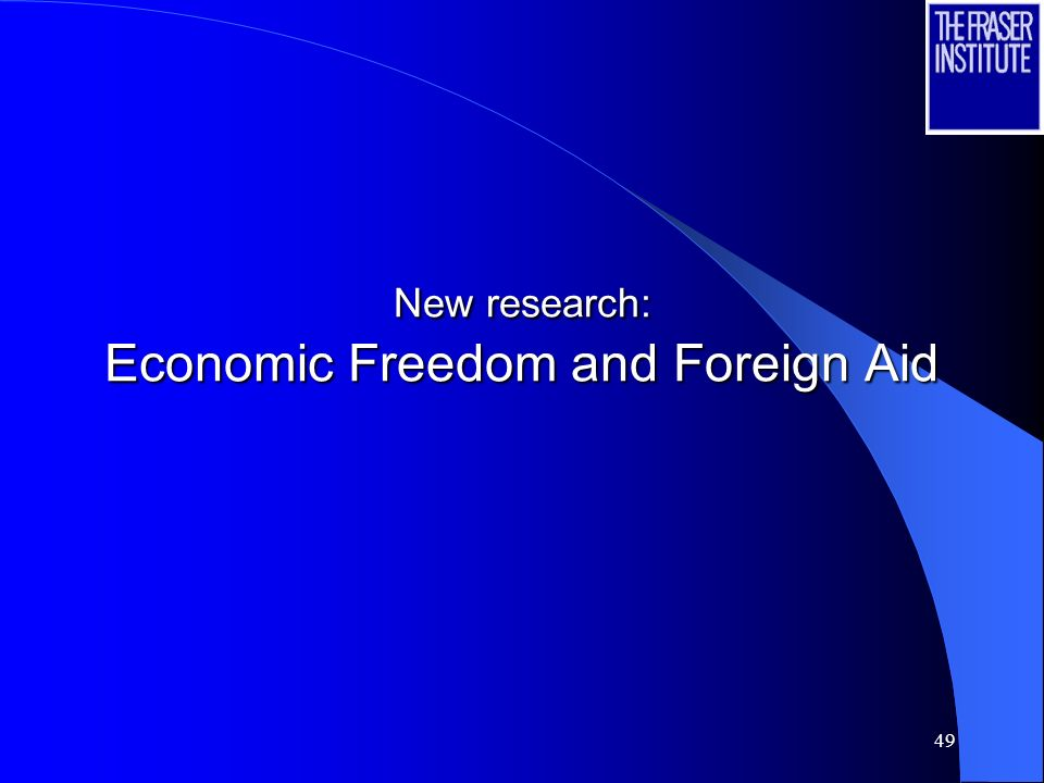 New research: Economic Freedom and Foreign Aid