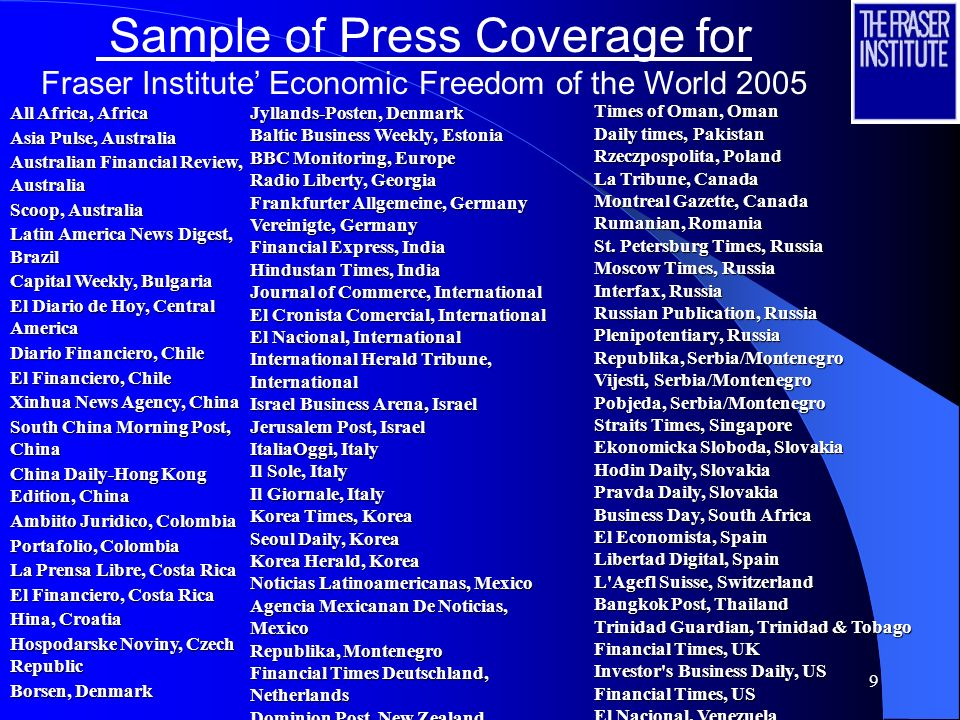 Sample of Press Coverage for