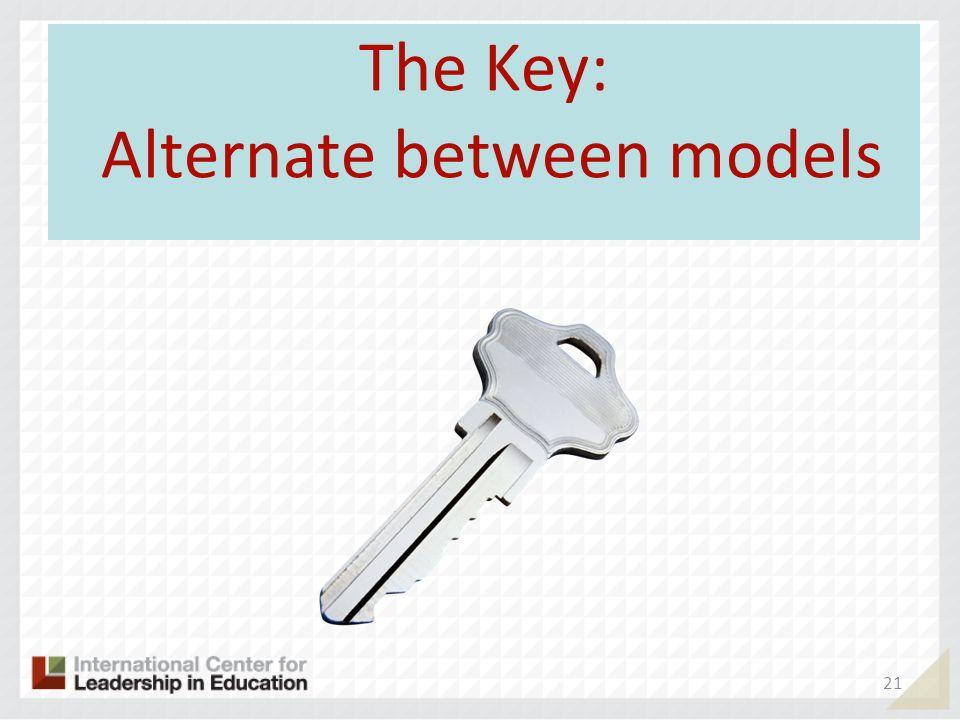 The Key: Alternate between models