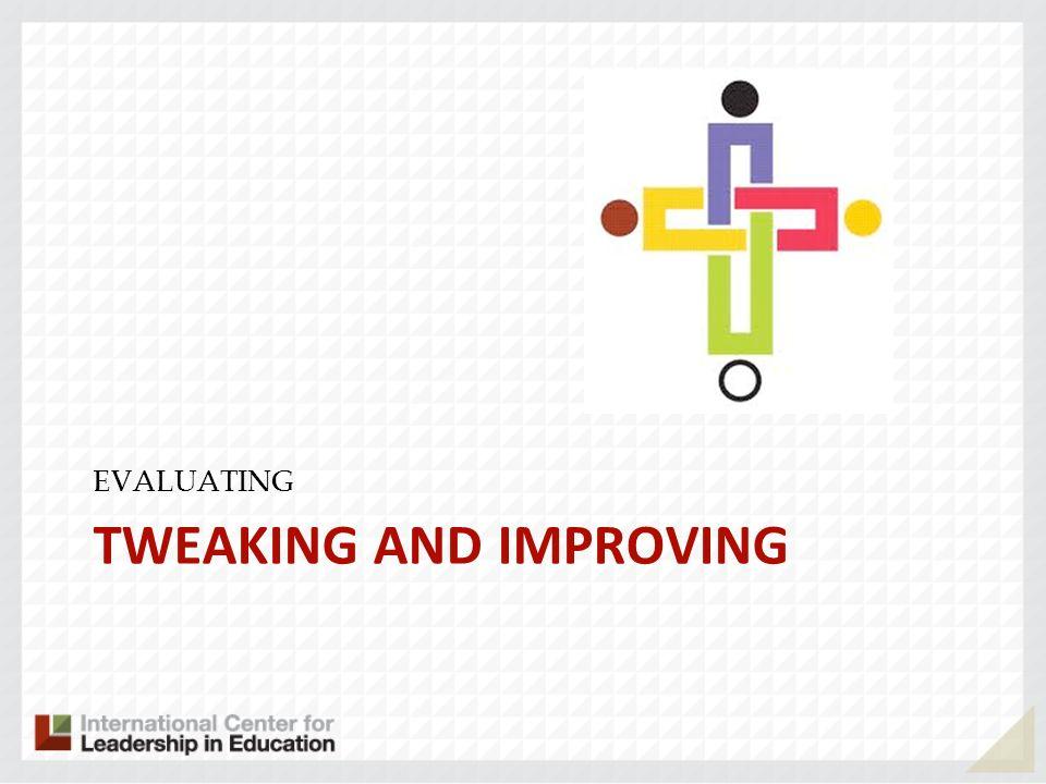 TWEAKING AND IMPROVING