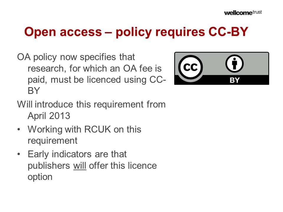 Open access – policy requires CC-BY