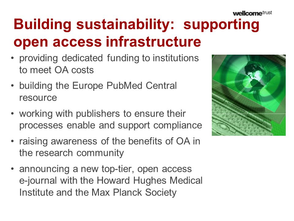 Building sustainability: supporting open access infrastructure
