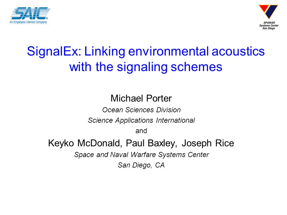 SignalEx: Linking environmental acoustics with the signaling schemes