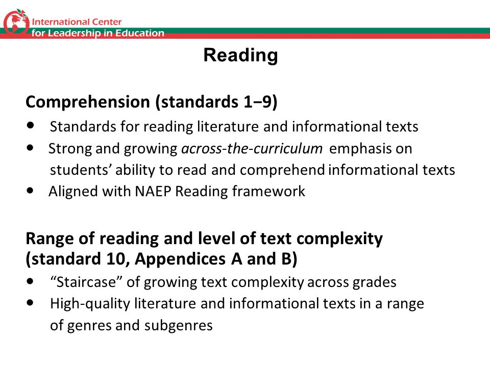 Comprehension (standards 1−9)