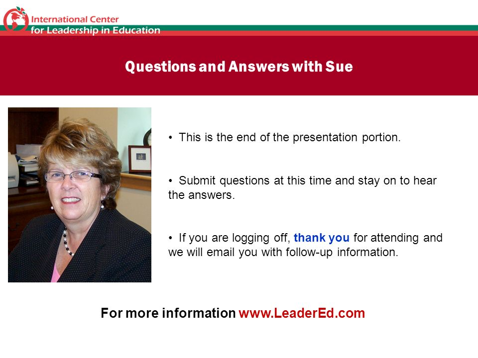 Questions and Answers with Sue