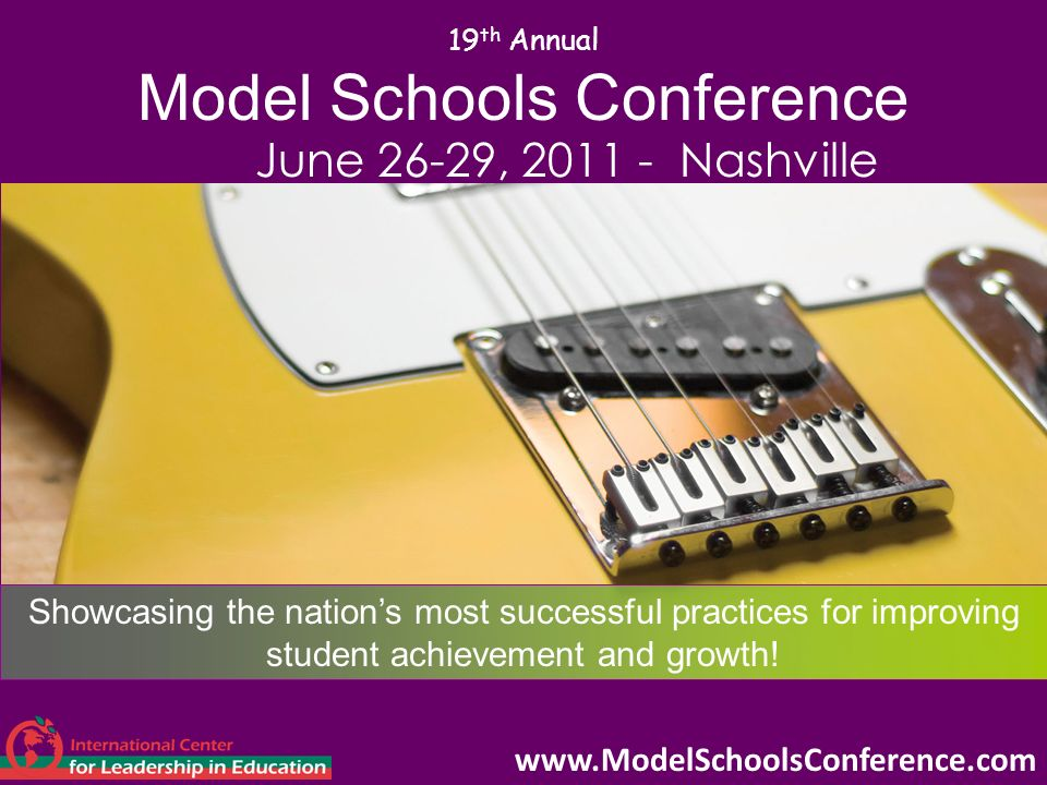 19th Annual Model Schools Conference