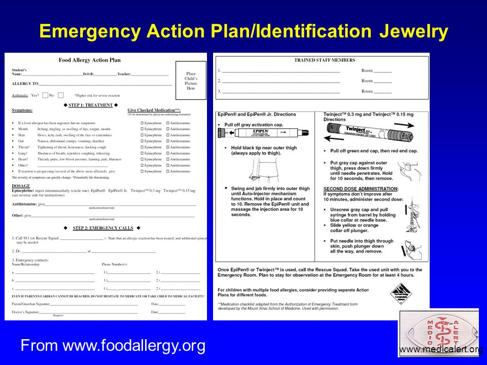 Emergency Action Plan/Identification Jewelry