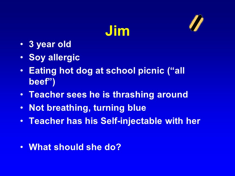 Jim 3 year old Soy allergic