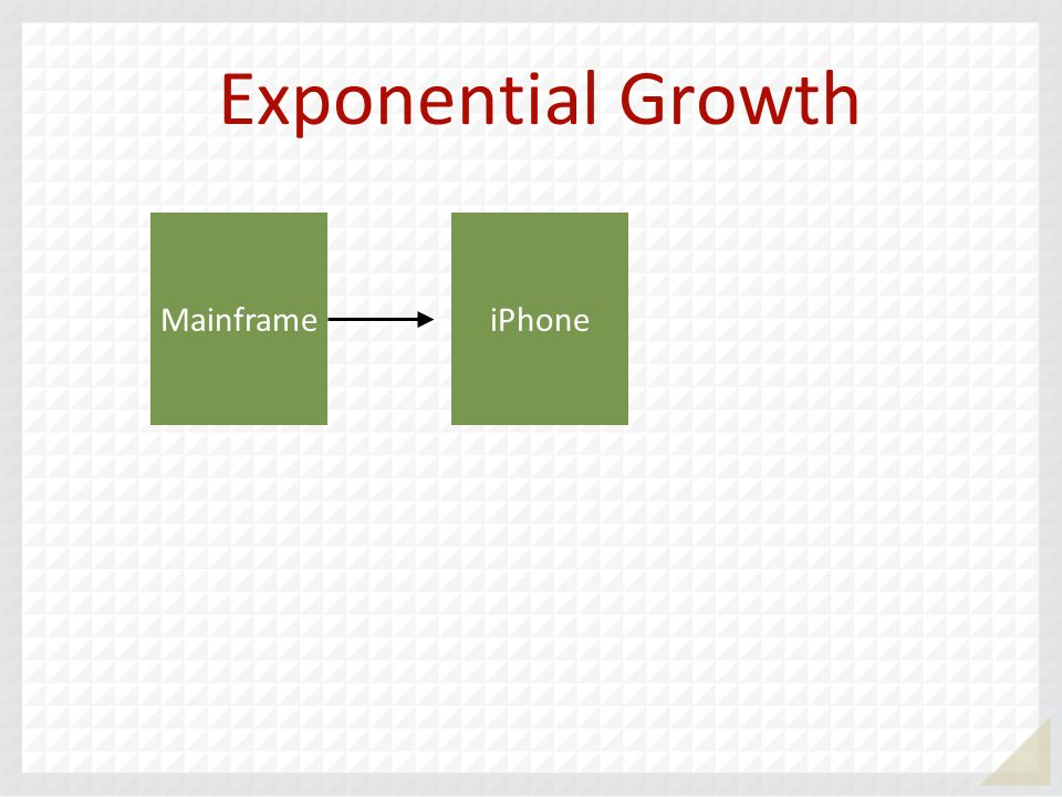 Exponential Growth Mainframe iPhone