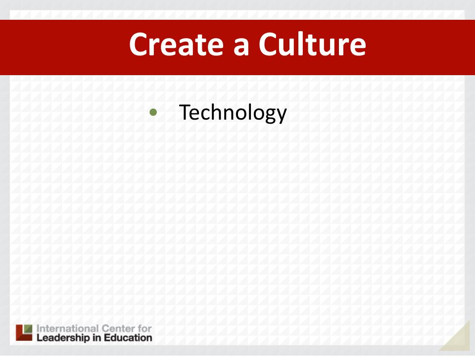 Create a Culture Technology