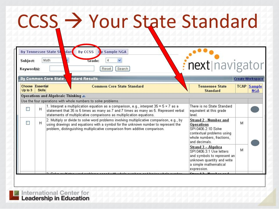 CCSS  Your State Standard