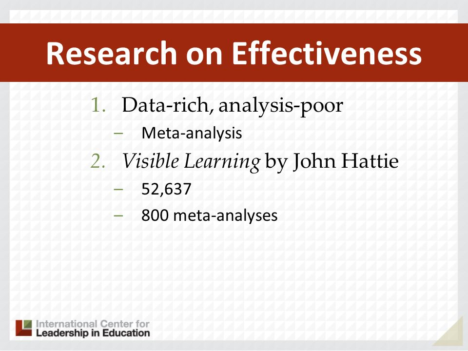 Research on Effectiveness