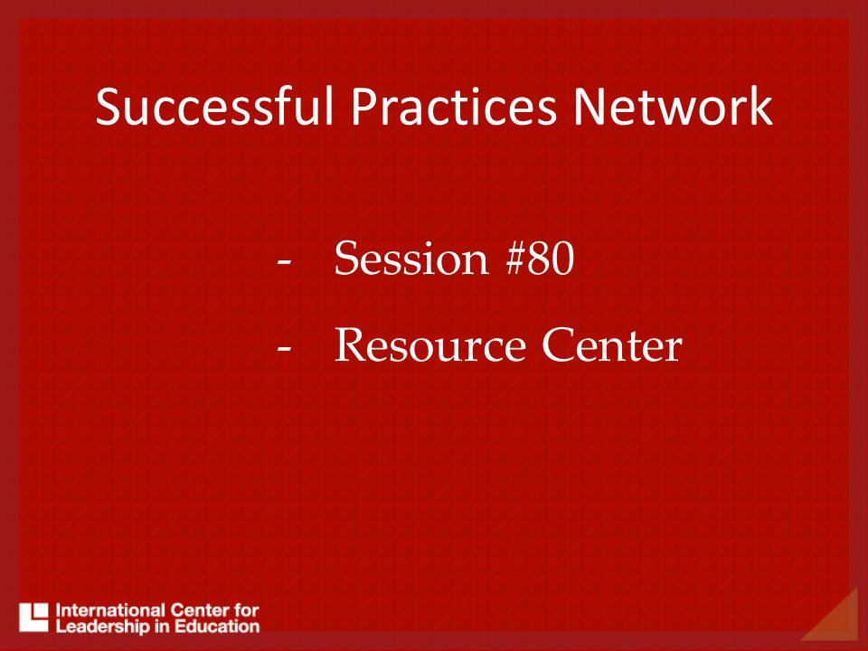 Successful Practices Network
