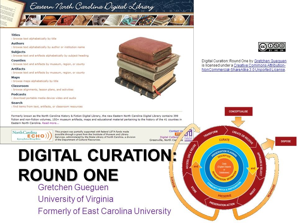 Digital Curation: Round One