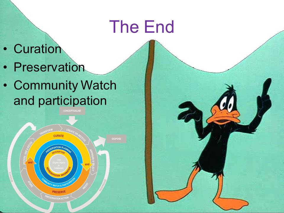 The End Curation Preservation Community Watch and participation