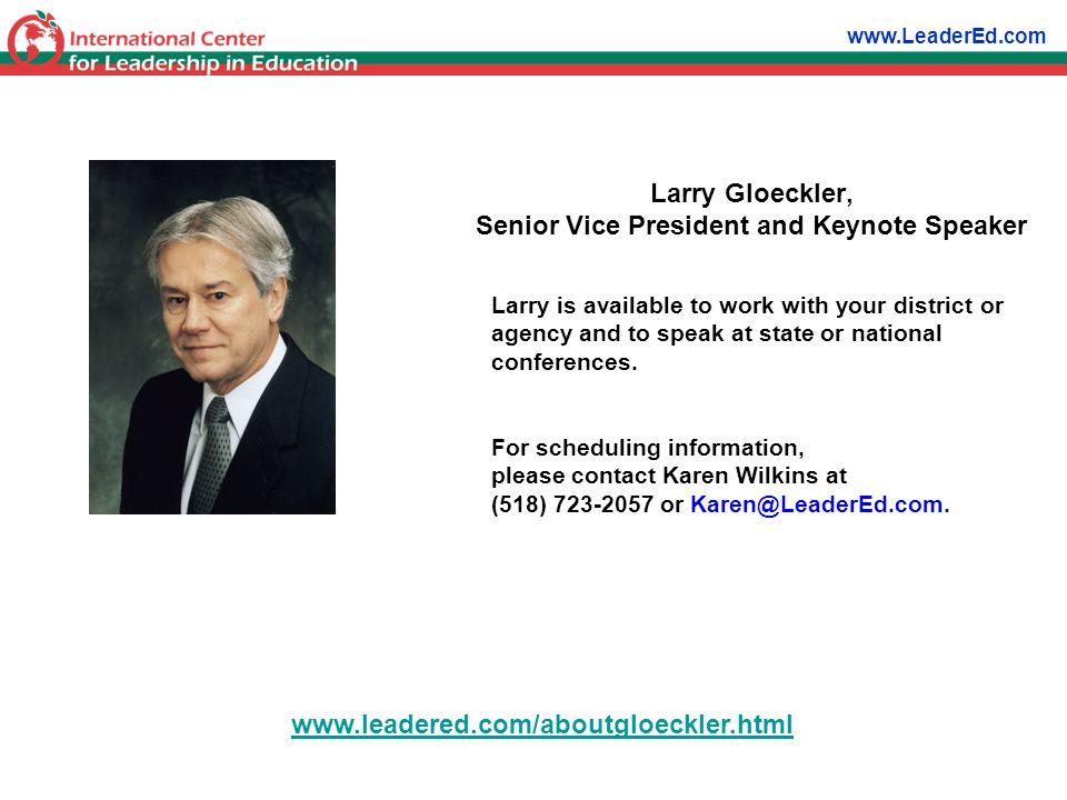 Larry Gloeckler, Senior Vice President and Keynote Speaker