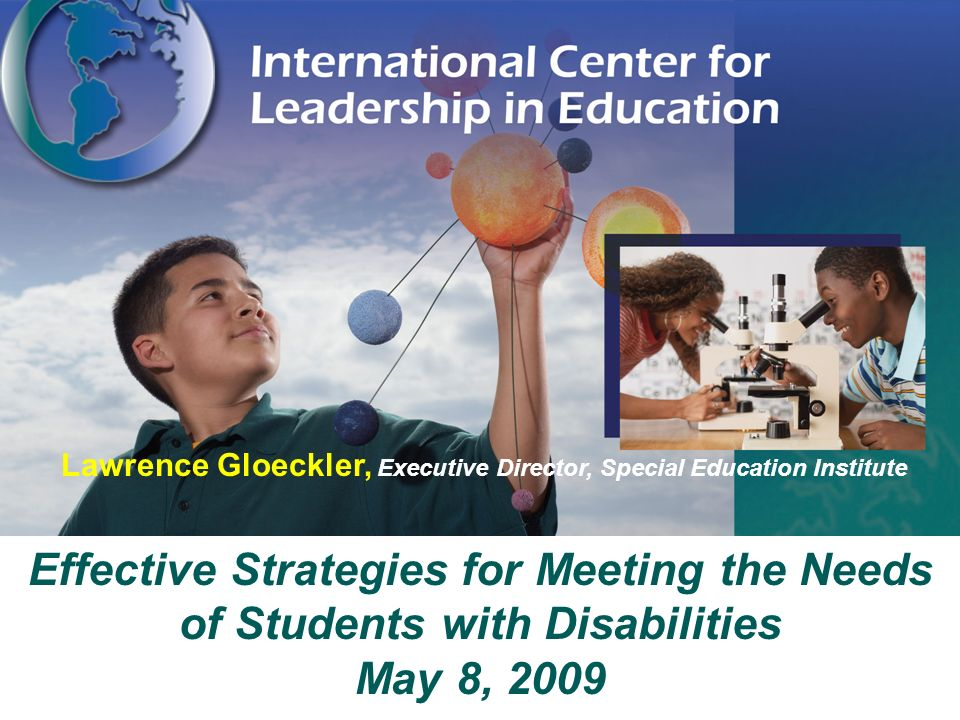 Lawrence Gloeckler, Executive Director, Special Education Institute