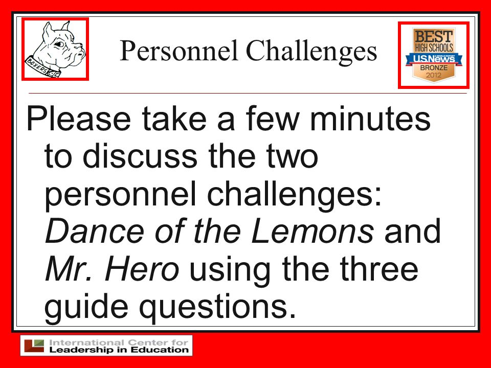 Personnel Challenges