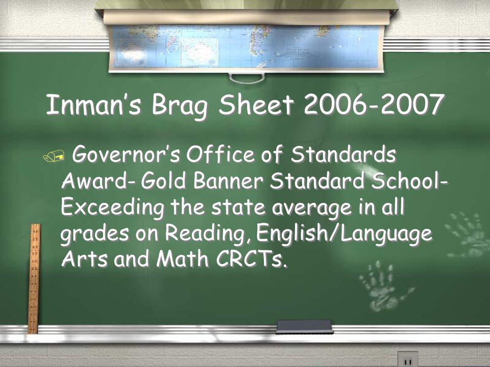 Inman's Brag Sheet 2006-2007