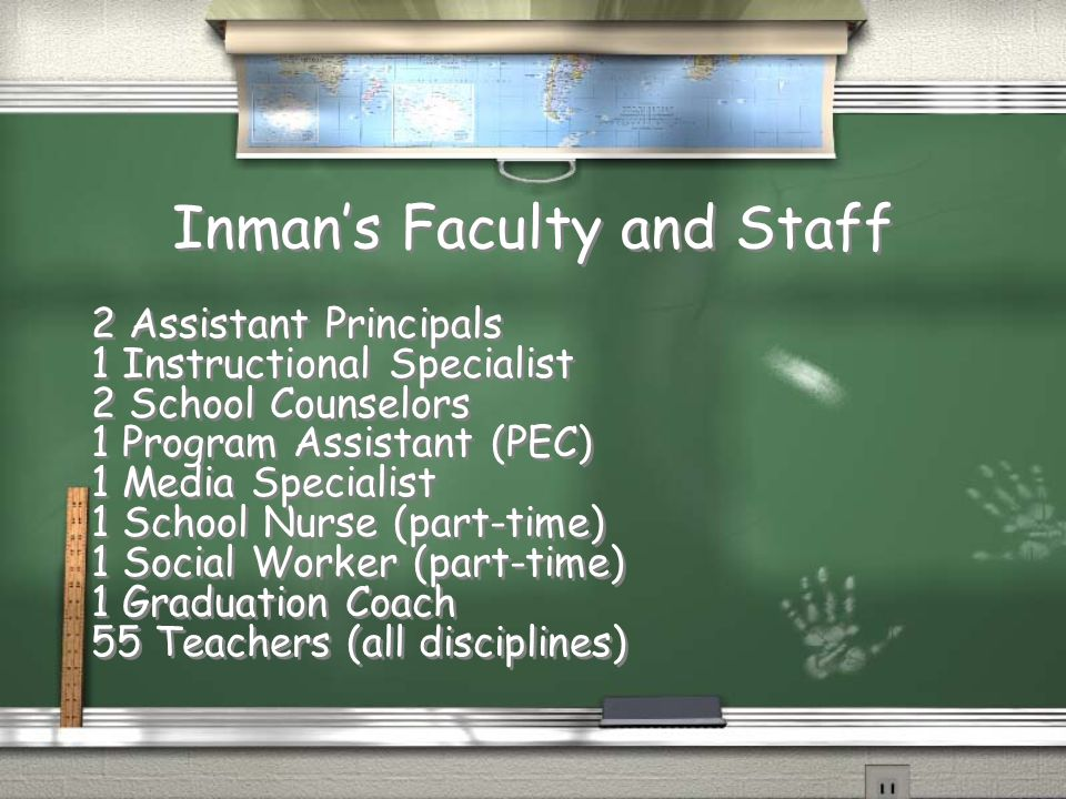 Inman's Faculty and Staff