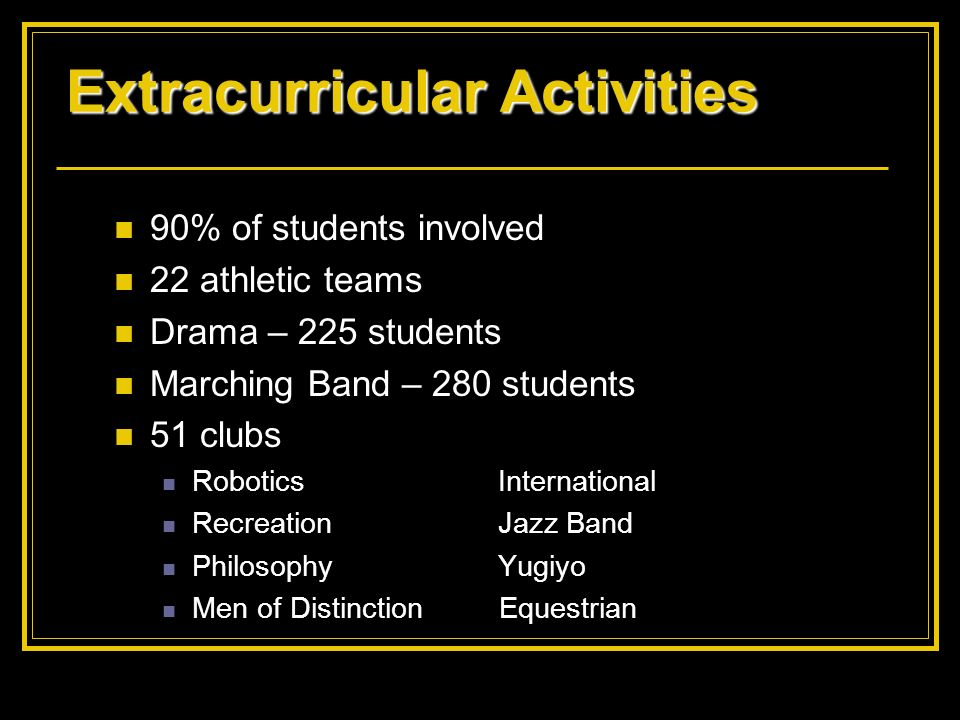 Extracurricular Activities