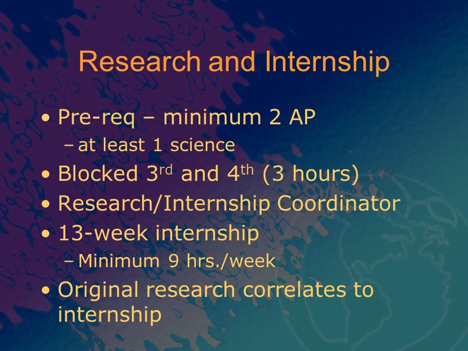 Research and Internship