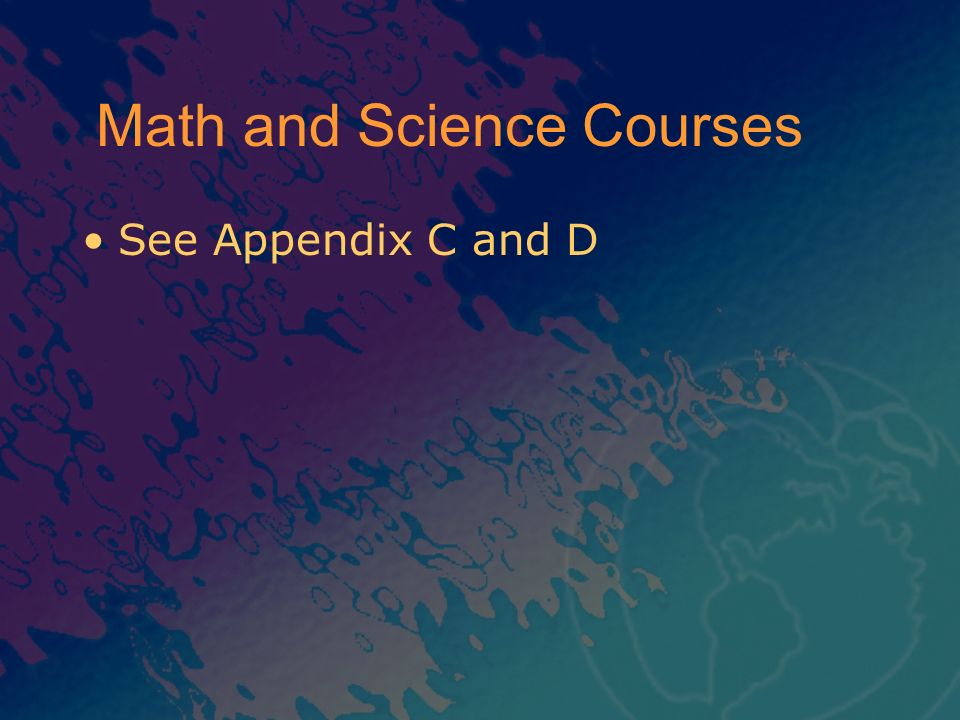 Math and Science Courses