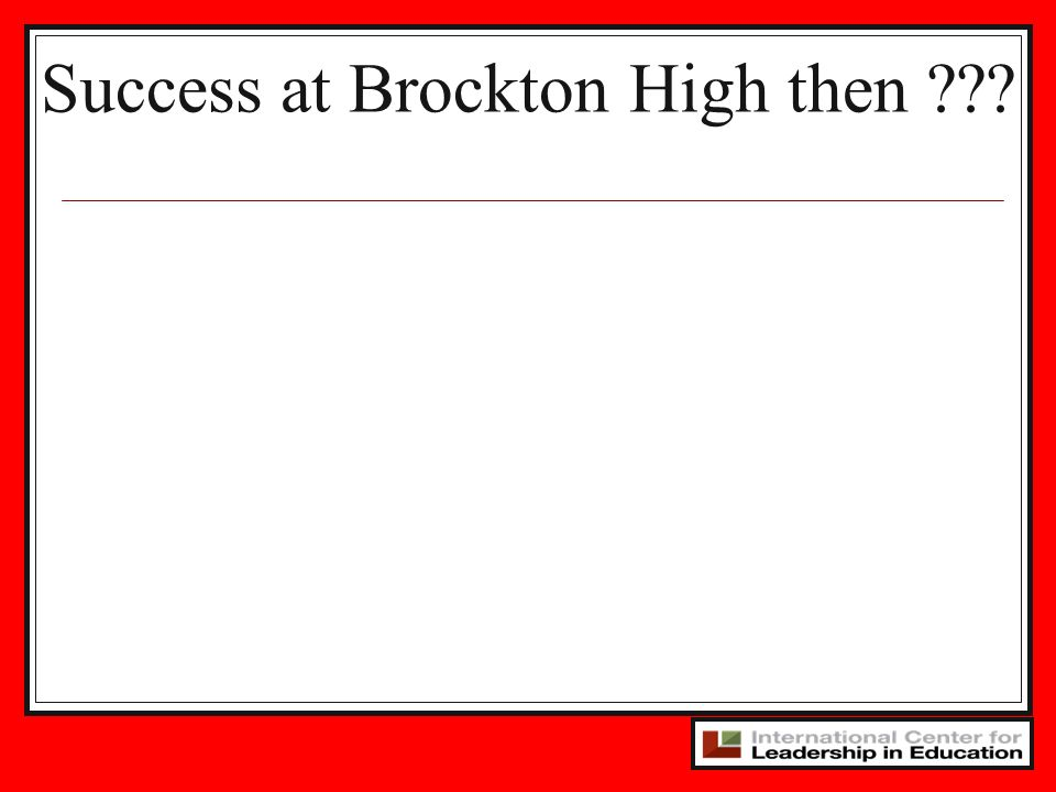 Success at Brockton High then