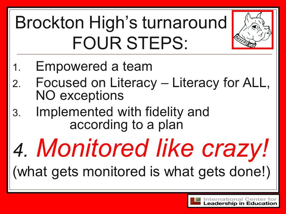 Brockton High's turnaround FOUR STEPS: