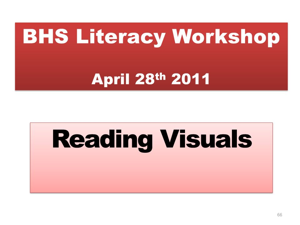BHS Literacy Workshop April 28th 2011