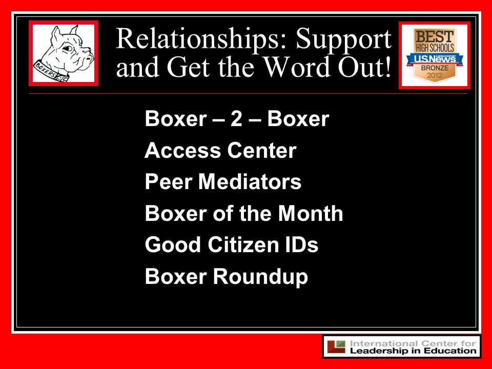 Relationships: Support and Get the Word Out!