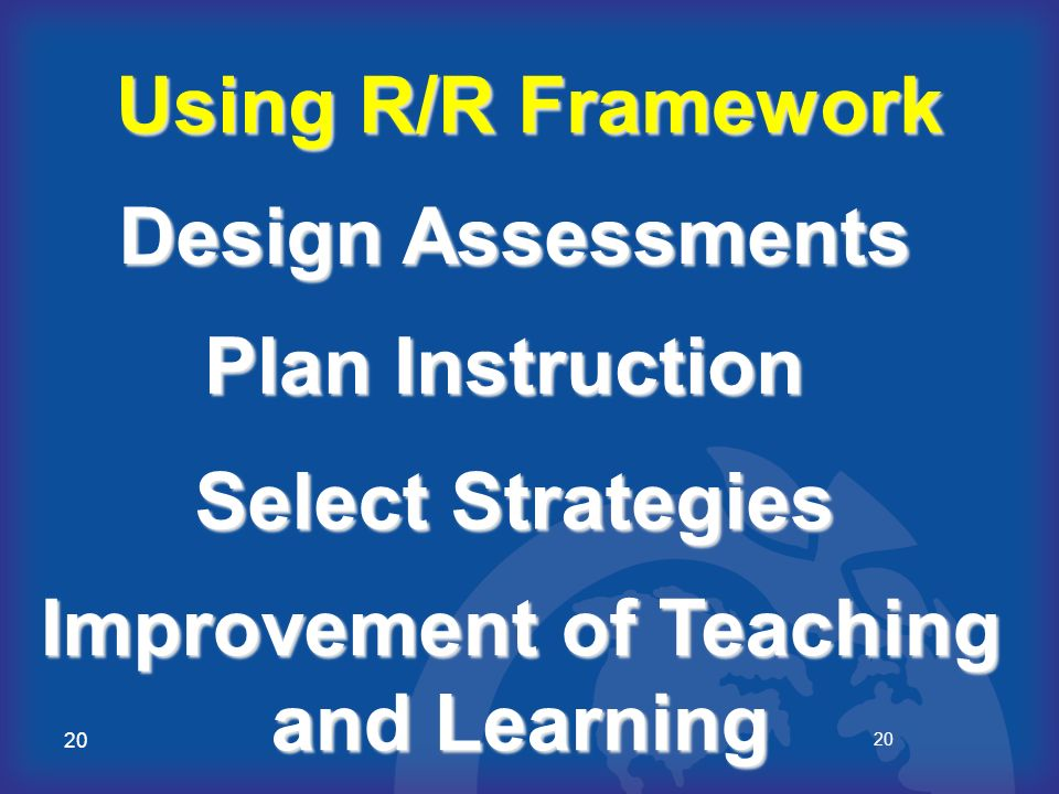 Improvement of Teaching and Learning