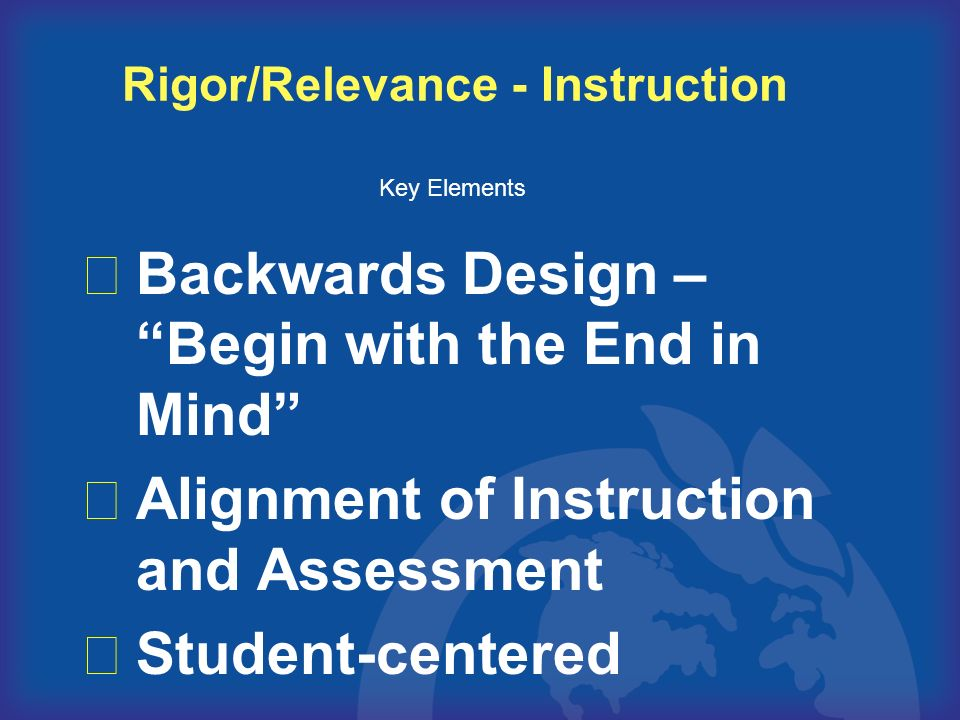 Rigor/Relevance - Instruction