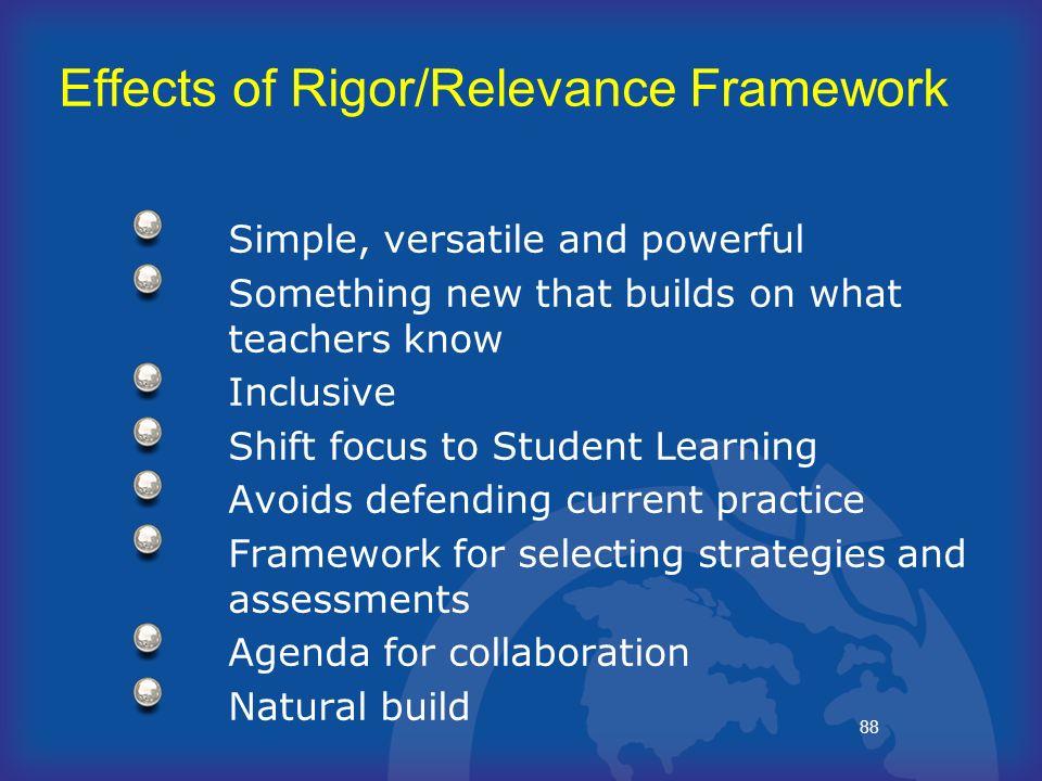 Effects of Rigor/Relevance Framework