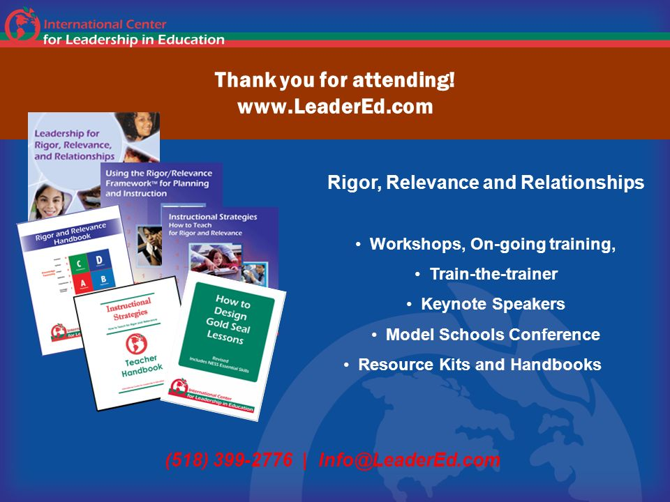 Thank you for attending! www.LeaderEd.com