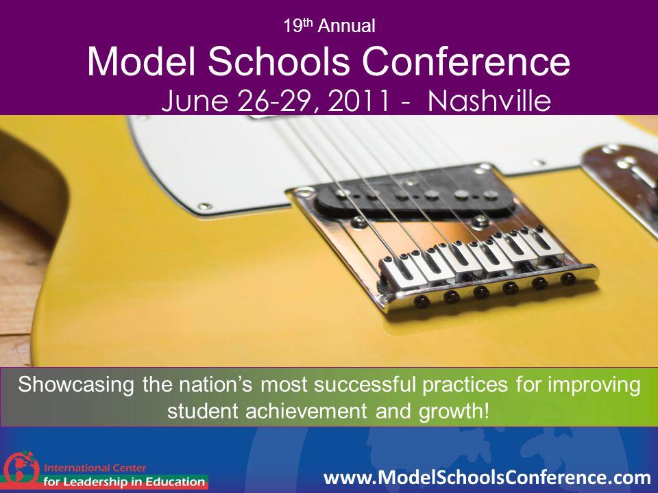 19th Annual Model Schools Conference