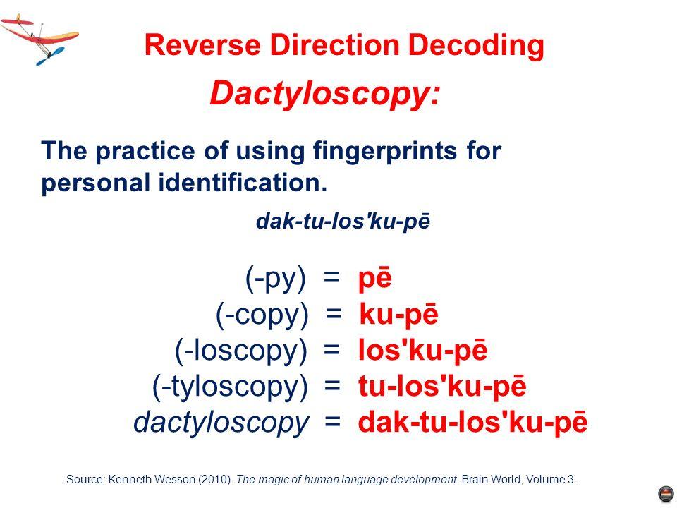 Reverse Direction Decoding
