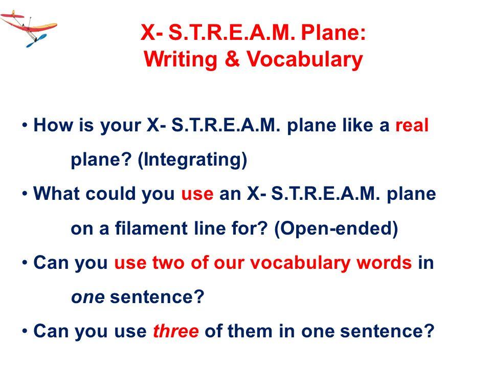 X- S.T.R.E.A.M. Plane: Writing & Vocabulary