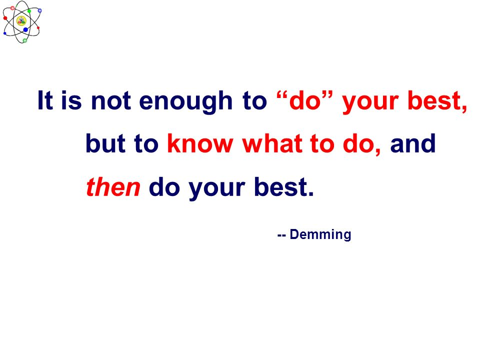 It is not enough to do your best,