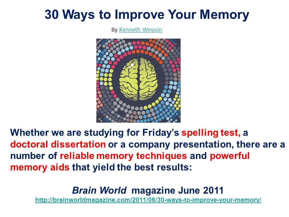 Brain World magazine June 2011