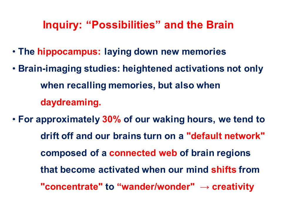 Inquiry: Possibilities and the Brain